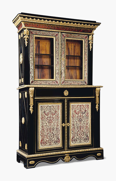 A Napoleon III Ormolu Mounted, Cut Brass And Red Tortoiseshell Inlaid,  Ebony U0027boulleu0027 Marquetry Side Cabinet. Third Quarter 19th Century.