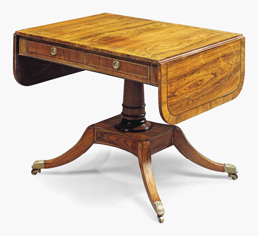 A Regency Rosewood Sofa Table. Early 19th Century. 29 In (74 Cm)