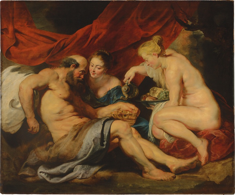 Sir Peter Paul Rubens (Seigen 1577-1640 Antwerp), Lot and His Daughters, circa 1613-1614. Oil on canvas, 74 x 88½ in. (190 x 225 cm). Sold for £44,882,500 on 7 July 2016