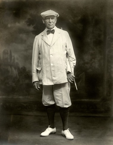George Lyon of Canada, the last man to win an individual Olympic gold medal for golf