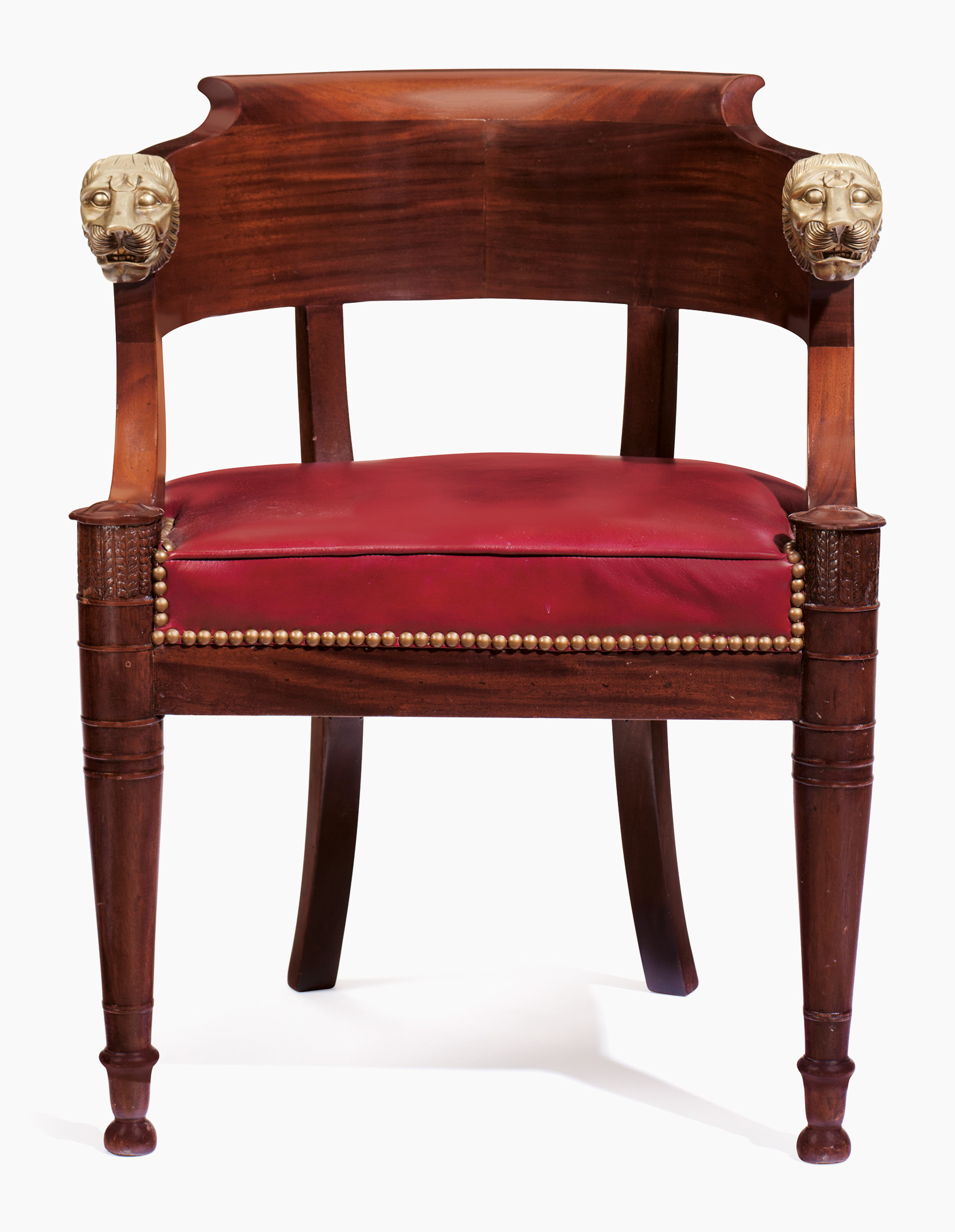 An Empire Ormolu Mounted Mahogany Fauteuil De Bureau. Estimate  $3,000 5,000. This