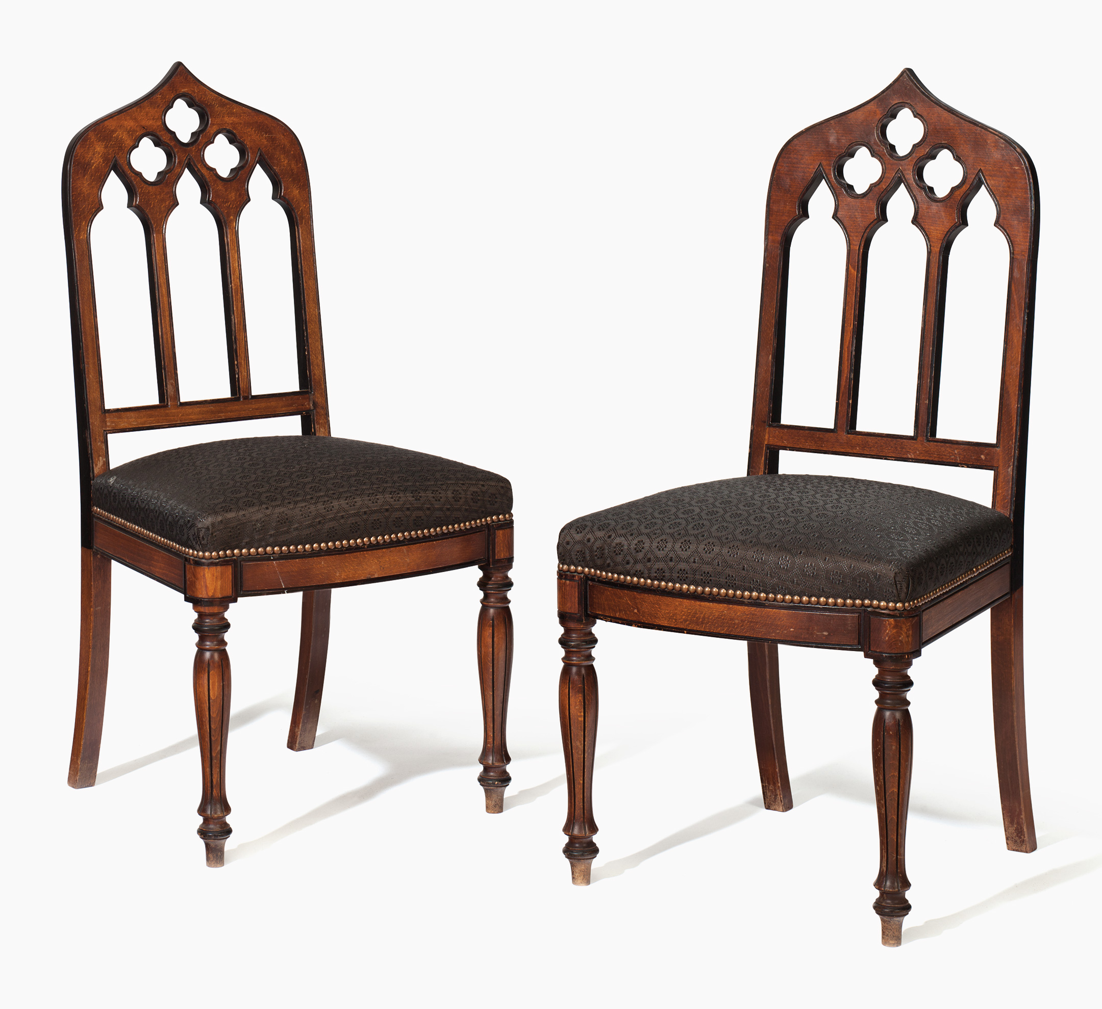 Gothic Revival Beechwood and Parcel-Ebonized Hall Chairs. Estimate:  $800-1,200. This lot is offered in the Living with Art sale on 23-24 August  at ...