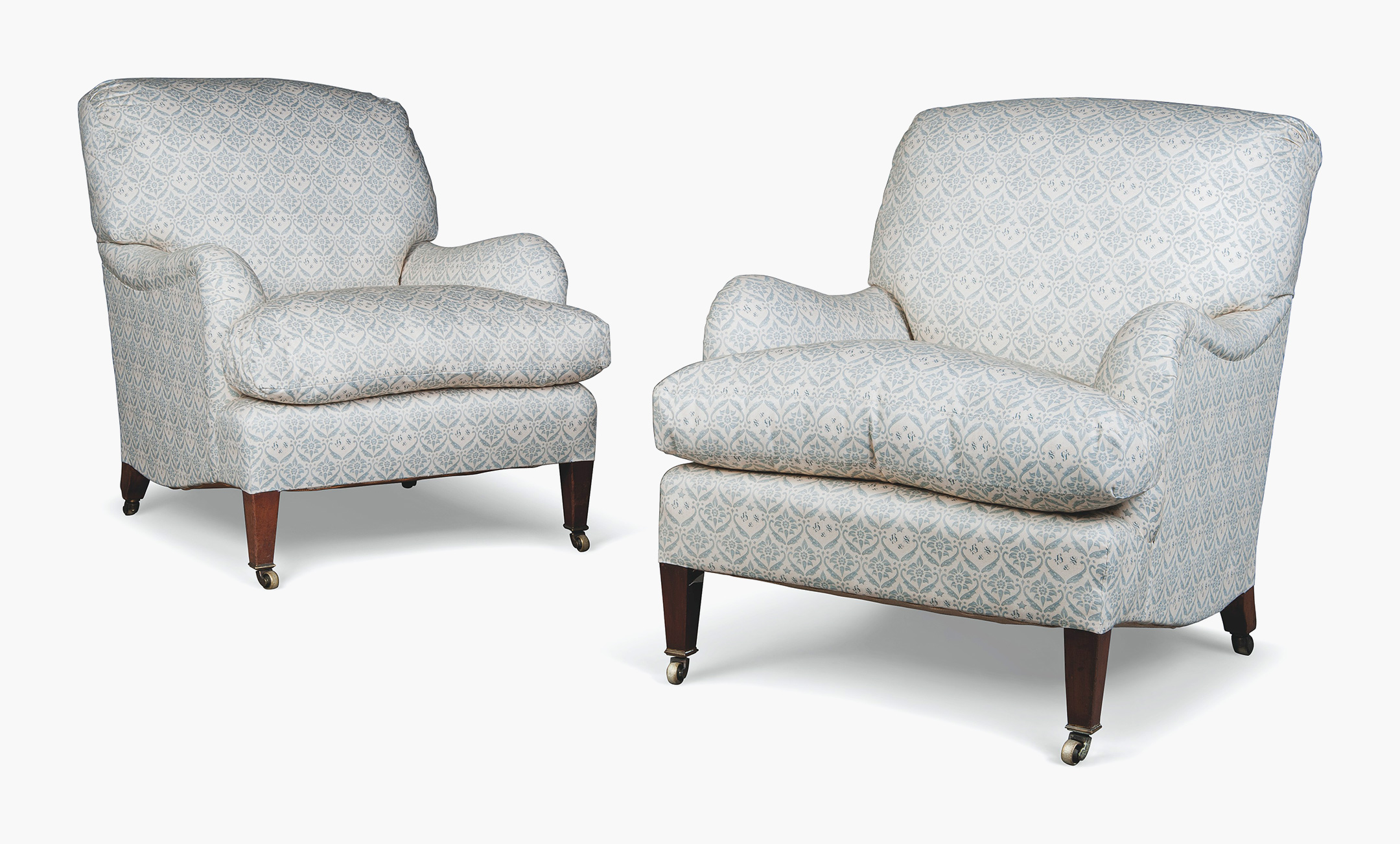 Late Victorian Or Edwardian Easy Armchairs By Howard U0026 Sons Ltd. Estimate:  £5,000 8,000. This Lot Is Offered In The Interiors Sale On 17 August At ...