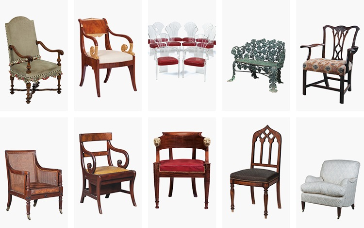 10 chairs, 10 styles auction at Christies