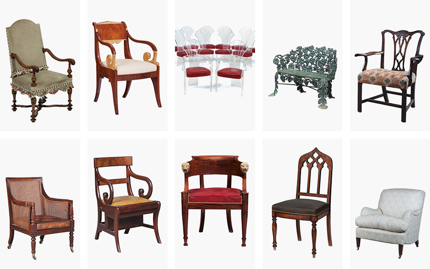10 chairs, 10 styles