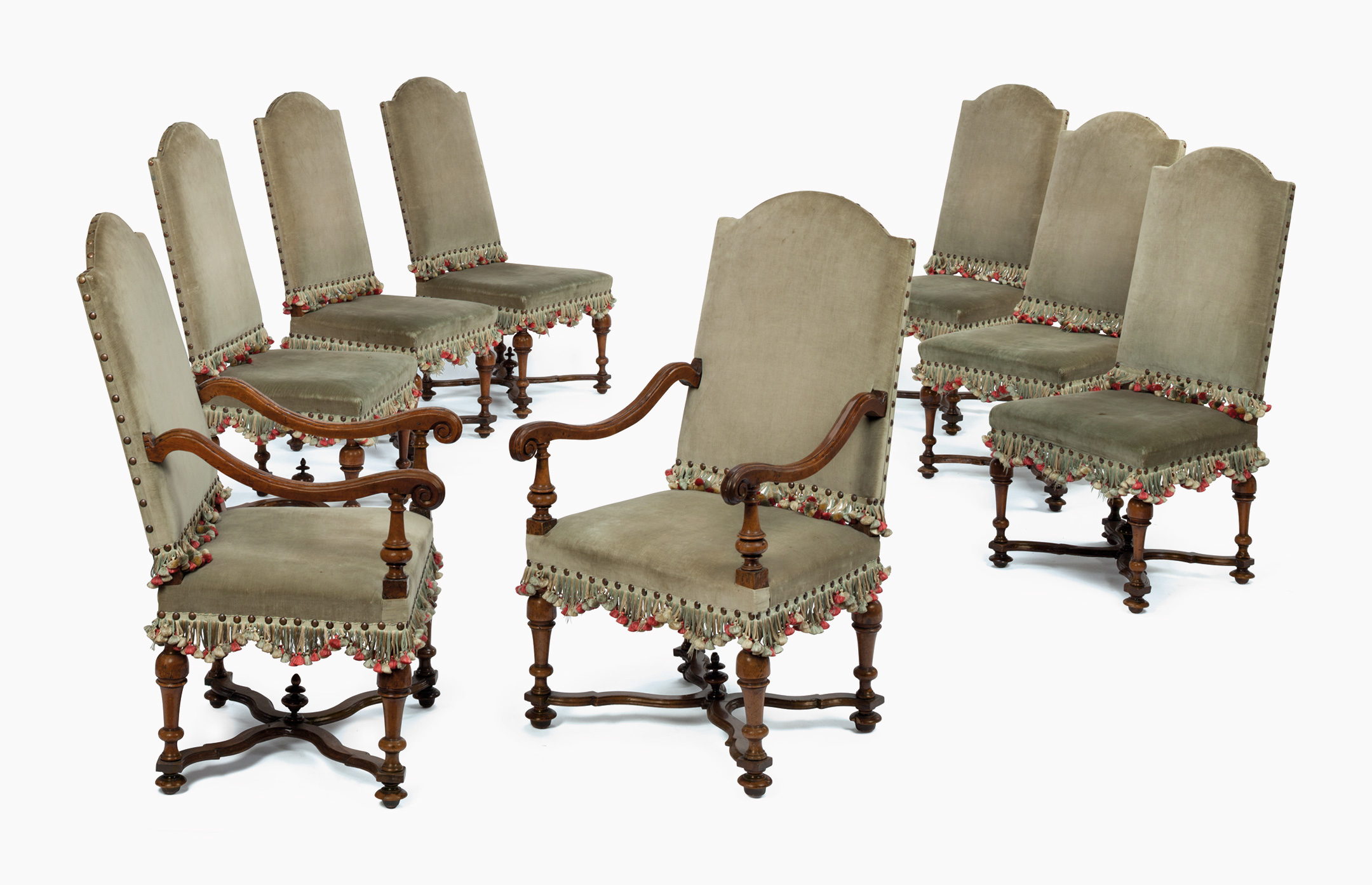 William And Mary Walnut Dining Chairs. Estimate $10,000 20,000. This Lot Is  Offered