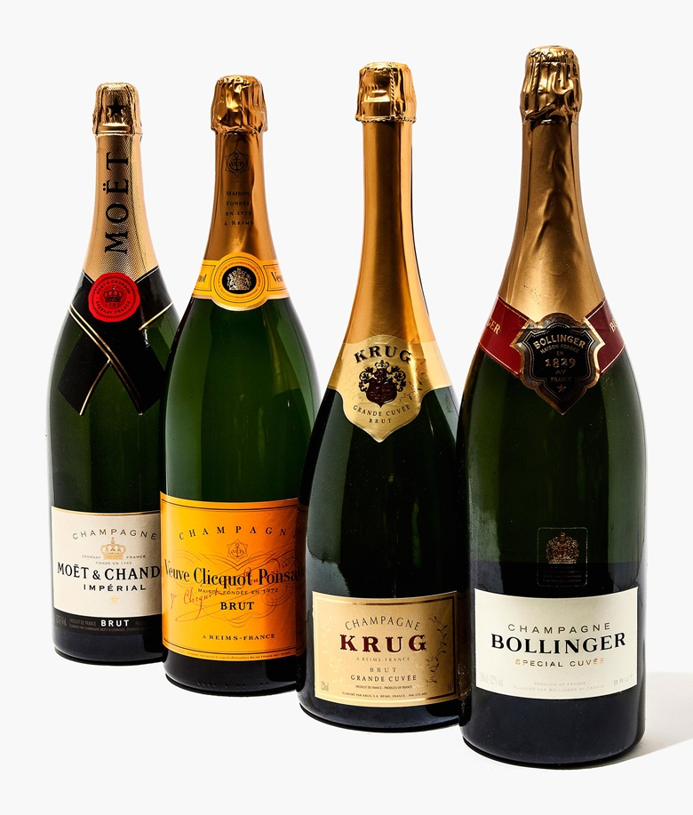 Mixed Champagne in Jeroboams (Krug Grand Cuvée, Bollinger Non-Vintage, Veuve Cliquot Non-Vintage, Moët & Chandon Non-Vintage). Estimate £350-450. 6 jeroboam-champagneburgundy per lot. This lot is offered in Wine OnlineLDN, 26 July – 9 August, Online