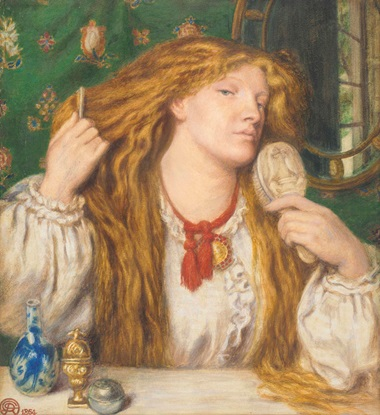 Dante Gabriel Rossetti (1828-1882), A Woman Combing Her Hair; Fanny Cornforth. Pencil, watercolour and bodycolour heightened with gum arabic on paper. Estimate £500,000-£800,000. Sold for £542,500 in the Victorian, Pre-Raphaelite and British Impressionist Art sale on 13 July 2016