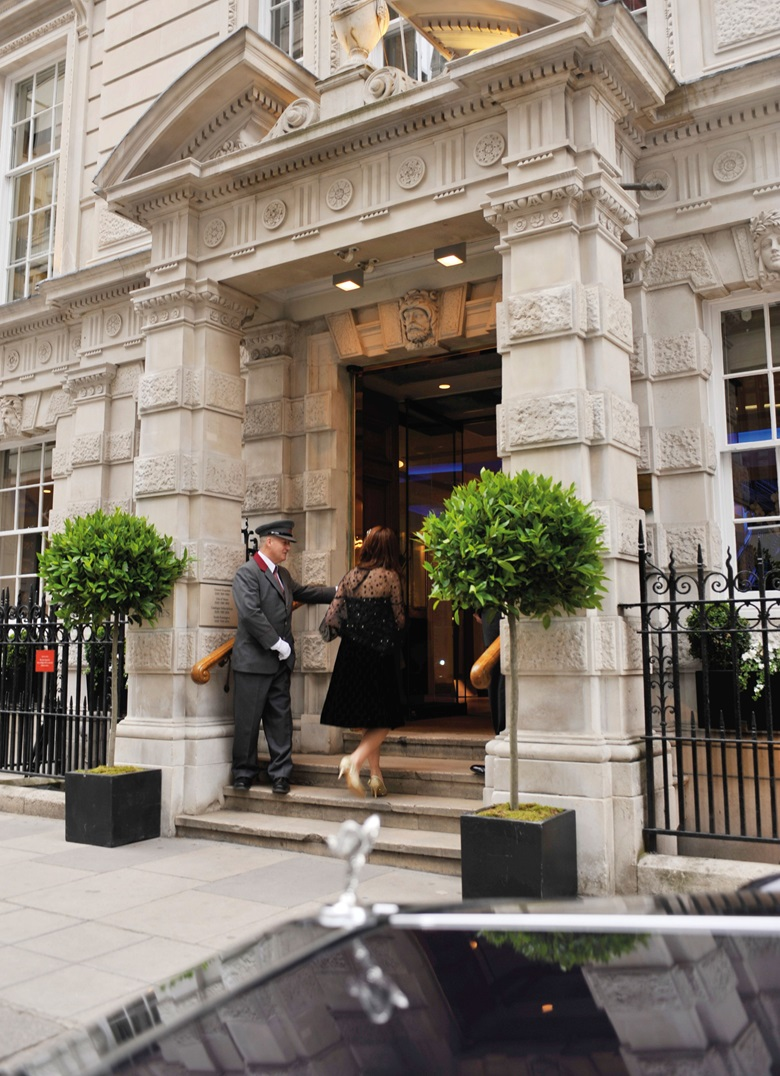 Colin Kemp welcomes a visitor to Christie's historic HQ on King Street in London