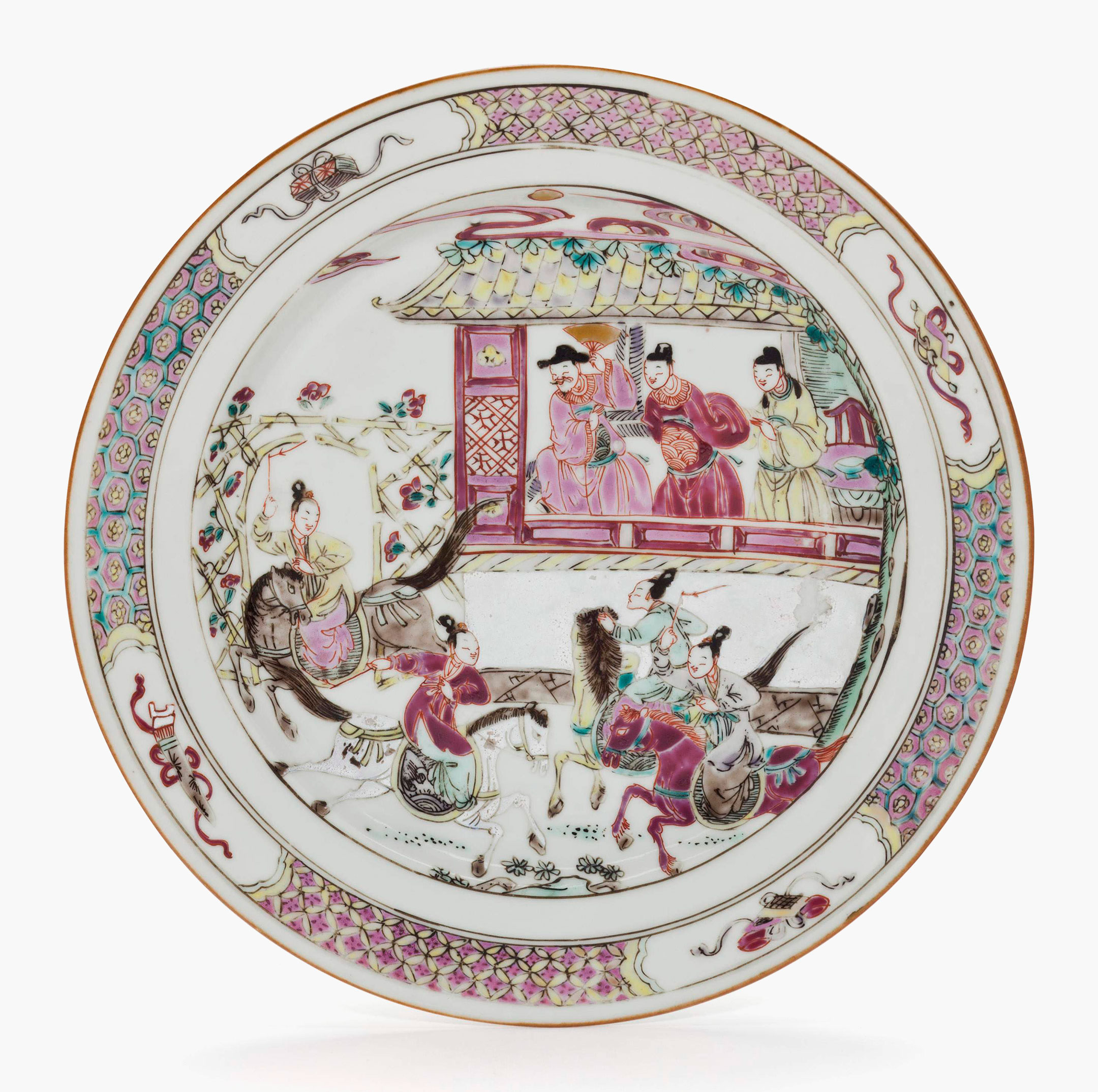 A famille rose dish Qianlong period (1736-1795). 8 ½ in  sc 1 st  Christieu0027s & Auction of Chinese ceramics from the Met | Christieu0027s