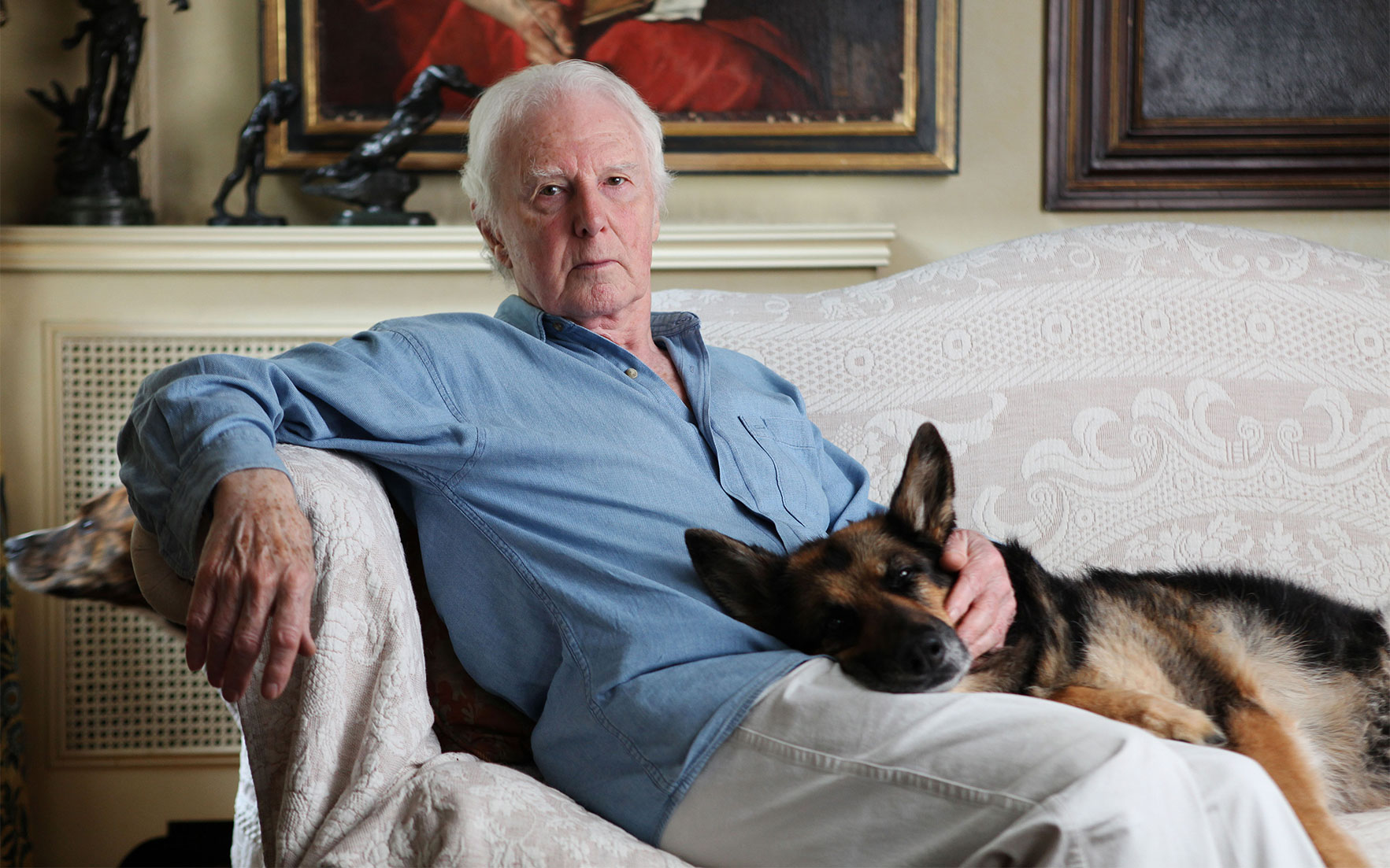 Brian Sewell photographed at home in southwest London, July 2011. Rebecca Reid  eyevine