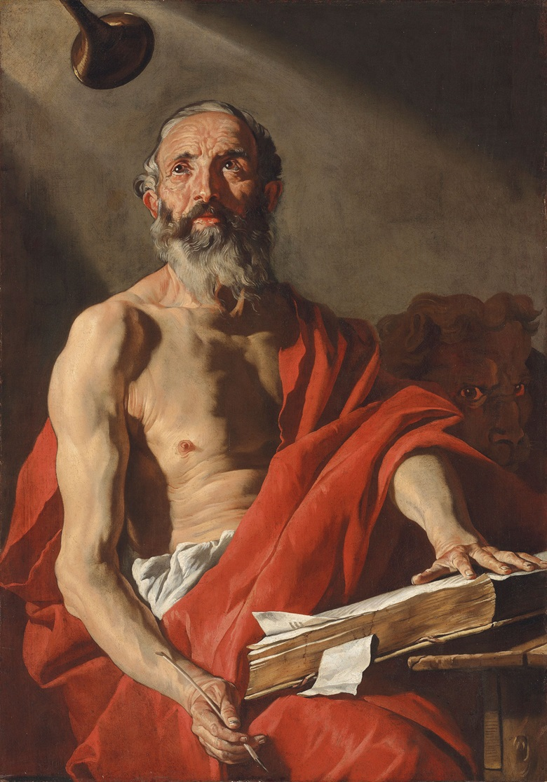 Matthias Stomer (Amersfoort c. 1600-after 1652 Sicily or Northern Italy), Saint Jerome. Oil on canvas. 47 x 33¼ in (119.4 x 81.4 cm). Estimate £100,000-150,000. This work is offered in Brian Sewell Critic & Collector on 27 September at Christie's London