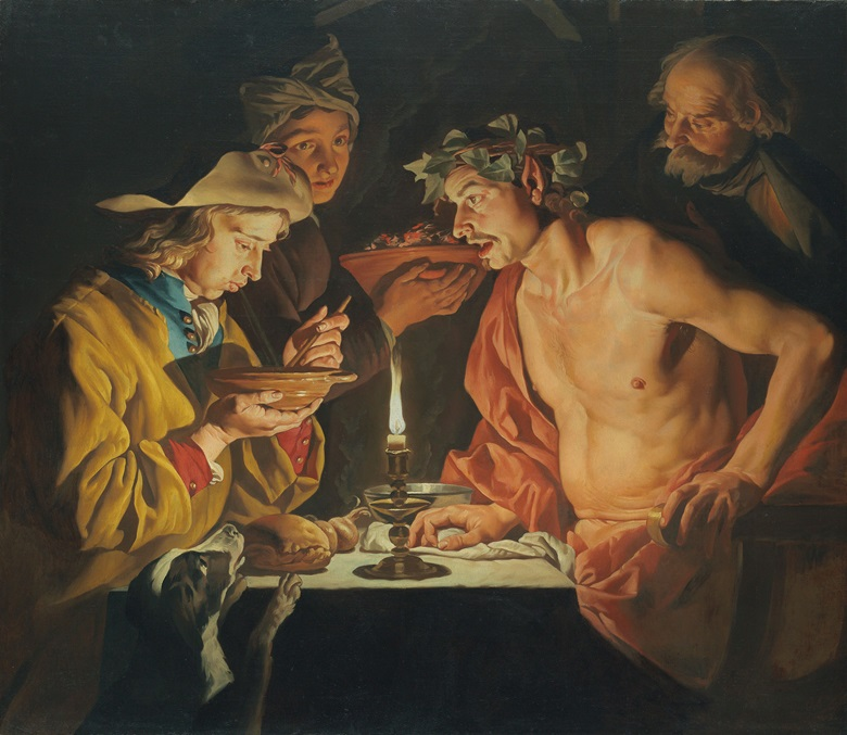 Matthias Stomer (Amersfoort circa 1600–after 1652 Sicily), Blowing Hot, Blowing Cold. Oil on canvas. 46¾ x 54 in (118.8 x 137.1 cm). Estimate £400,000–600,000. This work is offered in Brian Sewell Critic & Collector on 27 September at Christie's London