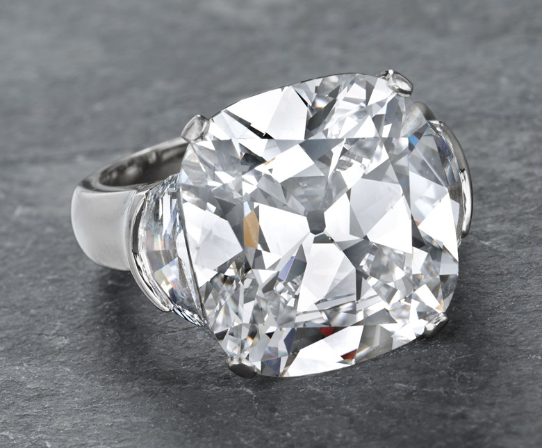 A diamond ring, by Graff. Sold for $1,325,000 on 14 April 2015