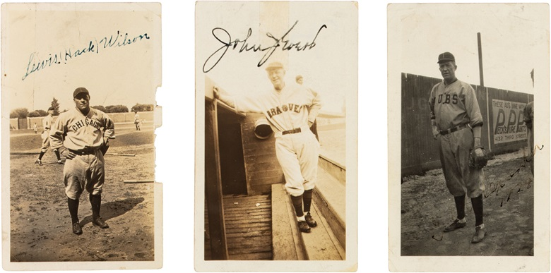 Outland signed photo collection. The majority of the photos measure 2½ x 4¼ in. Estimate $25,000-35,000. This lot is offered in The Golden Age of Baseball, Selections of Works from the National Pastime Museum on 19-20 October 2016 at Christie's in New York
