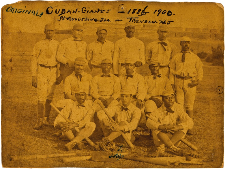 189596 Cuban Giants team cabinet photgraph. 9 x 7 in. Estimate $8,000-10,000. This lot is offered in The Golden Age of Baseball, Selections of Works from the National Pastime Museum on 19-20 October 2016 at Christie's in New York