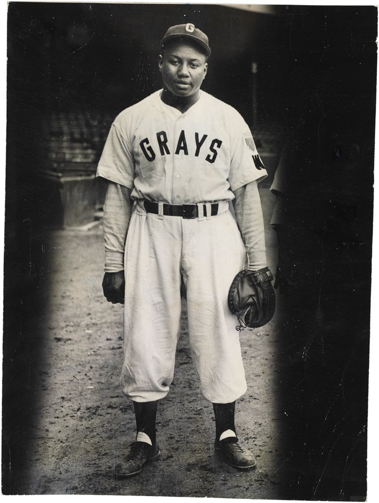 Josh Gibson photograph. 7 x 9¼ in. Estimate $10,000-15,000. This lot is offered in The Golden Age of Baseball, Selections of Works from the National Pastime Museum on 19-20 October 2016 at Christie's in New York