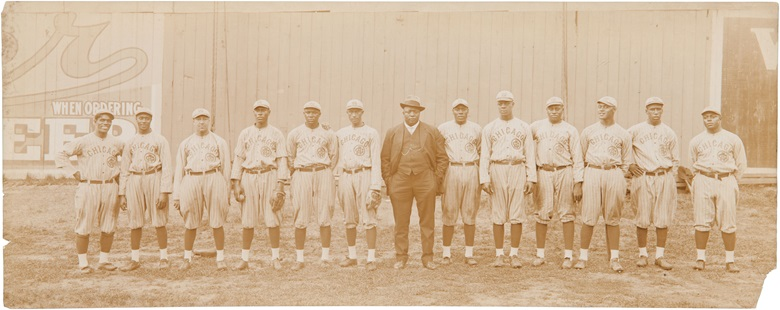 1916 Chicago American Giants panoramic photograph. Stuart thompson. 6½ x 16½ in. Estimate $10,000-15,000. This lot is offered in The Golden Age of Baseball, Selections of Works from the National Pastime Museum on 19-20 October 2016 at Christie's in New York