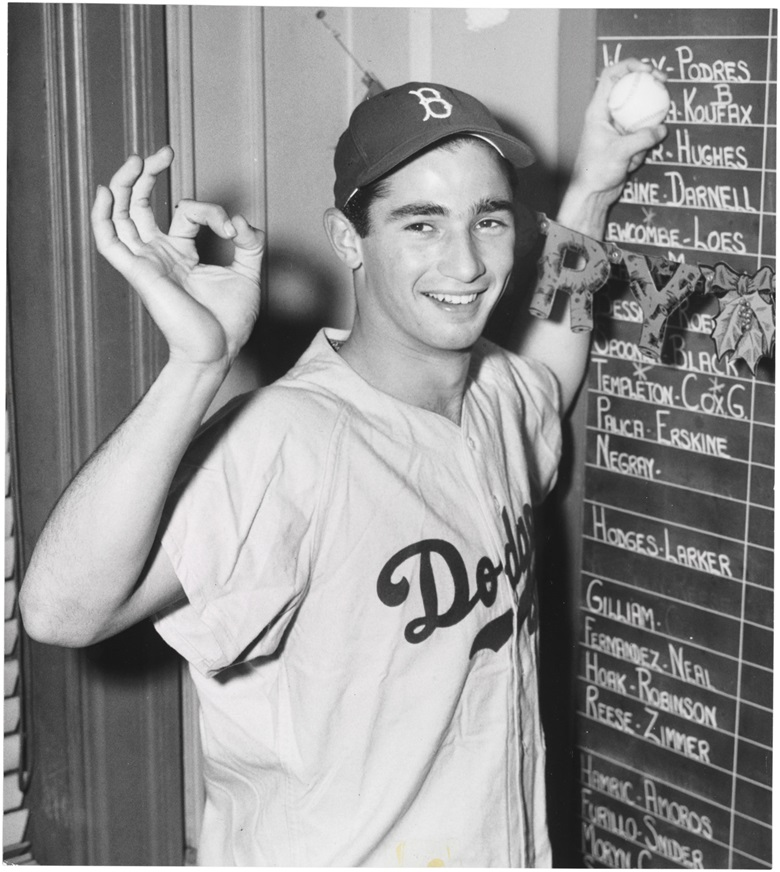 Sandy Koufax photograph. 7¾ x 8¾ in. Estimate $800-1,200. This lot is offered in The Golden Age of Baseball, Selections of Works from the National Pastime Museum on 19-20 October 2016 at Christie's in New York