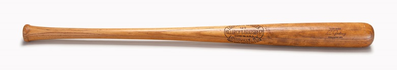 Lou Gehrig professional model bat. 35¼ in, 35.5 oz. Estimate $300,000-400,000. This lot is offered in The Golden Age of Baseball, Selections of Works from the National Pastime Museum on 19-20 October 2016 at Christie's in New York