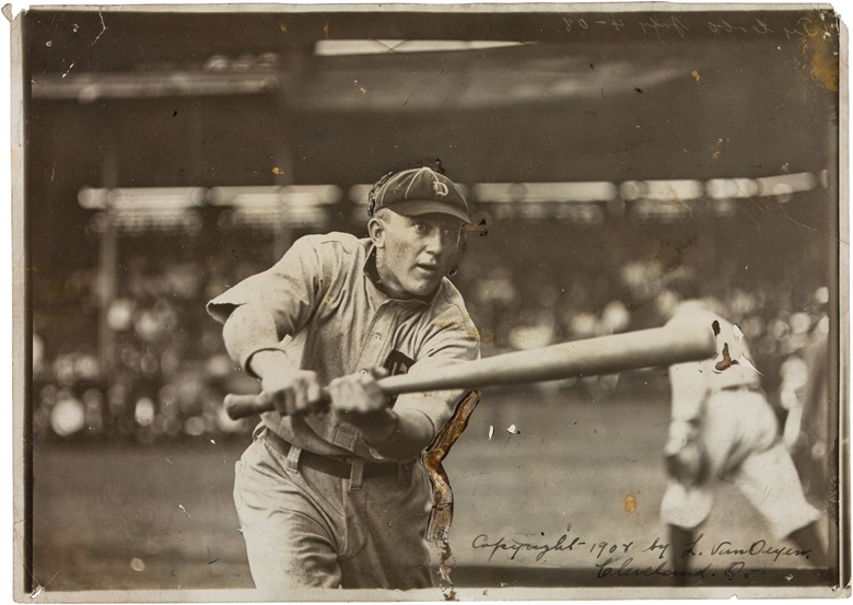 Ty Cobb photograph. Louis van Oeyen (1865-1946). 7 x 5 in. Estimate $10,000-15,000. This lot is offered in The Golden Age of Baseball, Selections of Works from the National Pastime Museum on 19-20 October 2016 at Christie's in New York