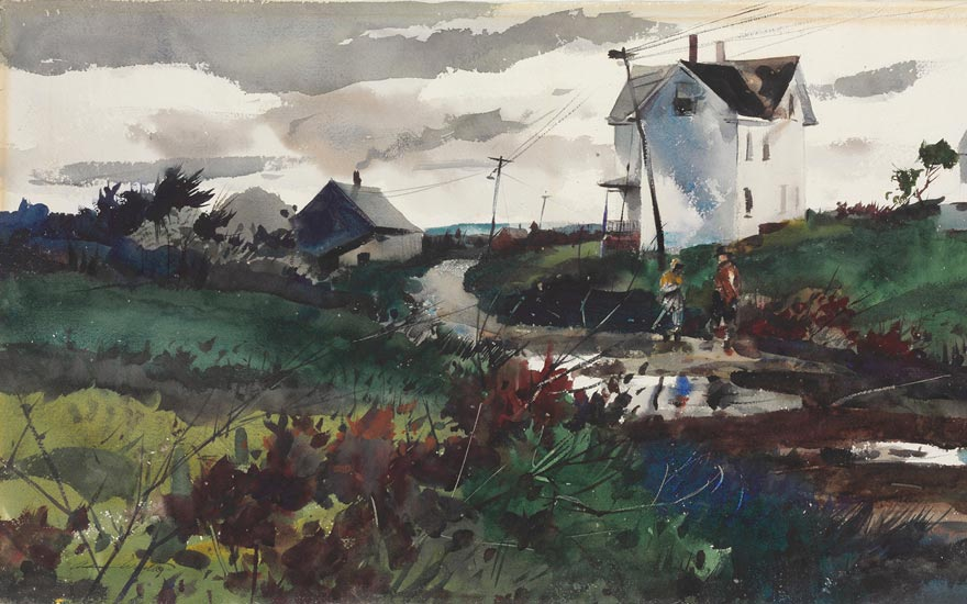 Main image Andrew Wyeth (1917-2009), After the Rain, 1939. Watercolor and pencil on paper. 17 x 29 ¾ in. (43.2 x 75.6 cm.) Estimate $80,000-120,000. This work is offered in American Art Online, 16-22