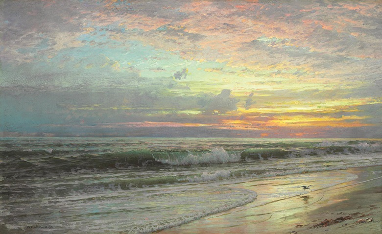 Coastal Landscape, 1901. Oil on canvas. 22 x 36 in (55.9 x 91.4 cm). Estimate $60,000-80,000. This work is offered in American Art Online, 16-22 September