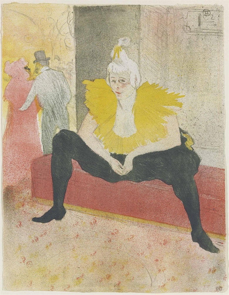 Henri de Toulouse-Lautrec (1864-1901), La Clownesse Assise (Mademoiselle Cha-u-kao). Image and Sheet 523 x 403 mm. Estimate £150,000-250,000. This lot is offered in Prints & Multiples on 21 September 2016 at Christie's in London, King Street