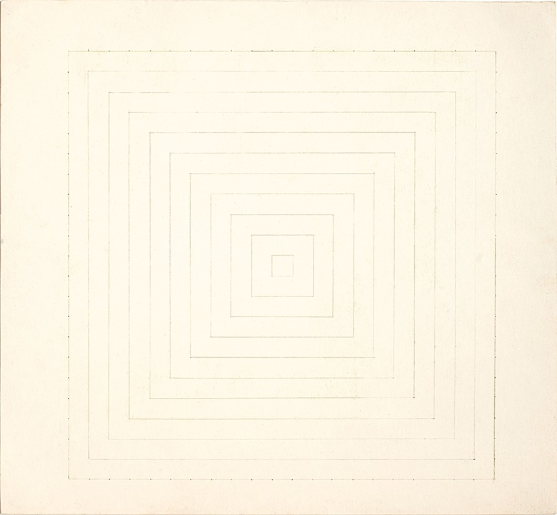Works from the Collection of Ileana Sonnabend and the Estate of Nina Castelli Sundell. Frank Stella (b. 1936), Untitled, 1964. Graphite on paper. 9⅞ x 10¾ in (25 x 27.3 cm). Estimate $8,000–12,000. This work is offered in First Open  Post-War and Contemporary Art  NY on 28 September at Christie's New York