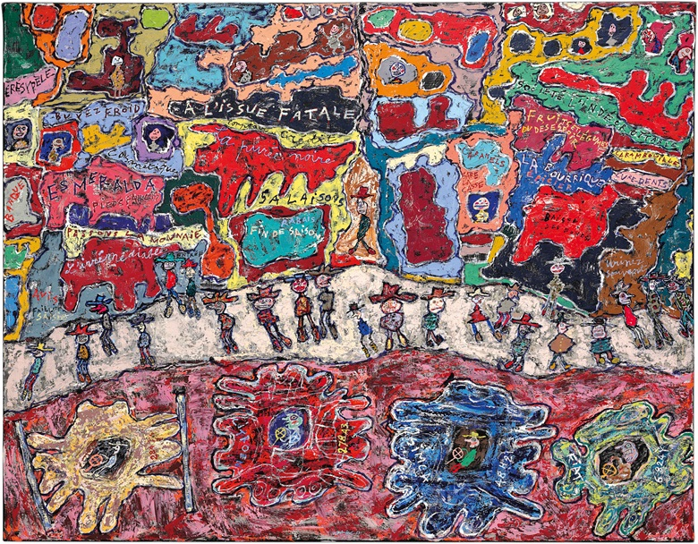 Jean Dubuffet (1901-1985), Les Grandes Artères, 1961. Oil on canvas, 44¾ x 57½ in (113.7 x 146 cm). Estimate $15,000,000-20,000,000. This lot is offered in Post-War & Contemporary Art Evening Sale  on 15 November 2016 at Christie's in New York, Rockefeller Plaza