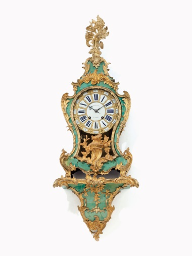 Kirill selects  A Louis XV ormolu-mounted green-stained horn bracket clock. The dial signed Diodonou à Paris, circa 1740. The mechanism inscribed Diodonou à Paris. 52½ in (131 cm) high overall. This work was offered in Living with Art, 13-14 October 2016 at Christie's in New York and sold for $6,875