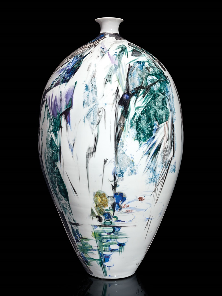 Kirill selects A large Meissen Porcelain vase painted by Professor Heinz Werner, dated 1992. 27½ in (69.8 cm) high. This lot was offered in Opulence on 10 October 2016 at Christie's in New York and sold for $12,500