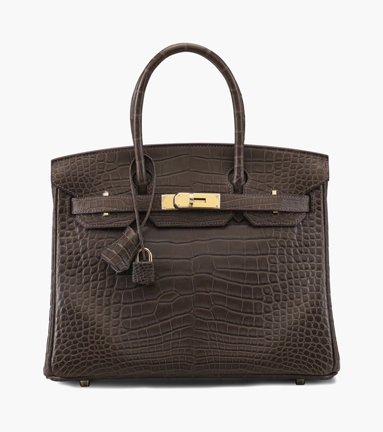 A matte gris elephant alligator Birkin 30 bag. Hermès, 2015. 12 in wide x 8.5 in high x 6 in deep. Estimate $40,000-50,000. This lot is offered in Handbags & Accessories on 13-22 September 2016 at Christie's in New York, Rockefeller Plaza