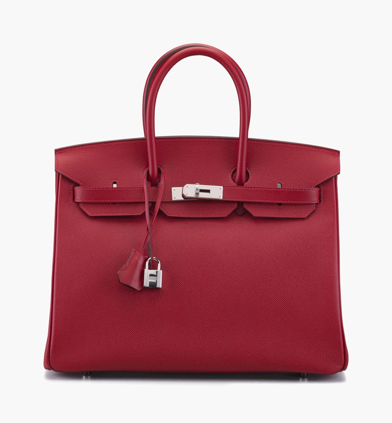 A rouge casaque epsom leather Birkin 35 bag. Hermès, 2010. 14 in wide x 10 in high x 7 in deep. Estimate $10,000-15,000. This lot is offered in Handbags & Accessories on 13-22 September 2016 at Christie's in New York, Rockefeller Plaza