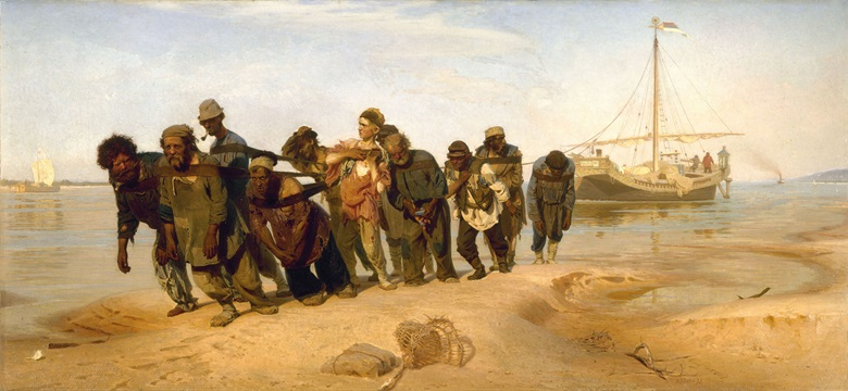 Ilya Repin, Barge Haulers on the Volga, 1870–73 © State Russian Museum, St PetersburgBridgeman Images