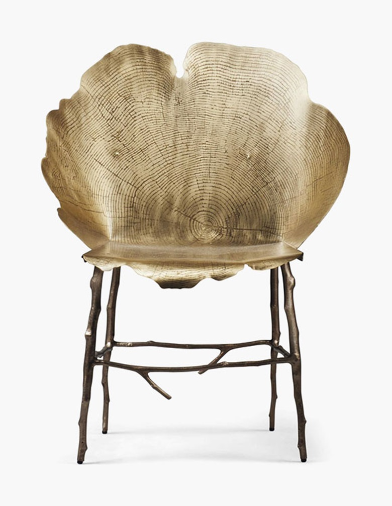 Sharon Sides, a Flor chair, 2015. 37 in (94 cm) high; 27½ in (70 cm) wide. Estimate £4,000-6,000. This lot is offered in Gordon Watson The Collectoron 13 October 2016 at Christie's in London, South Kensington