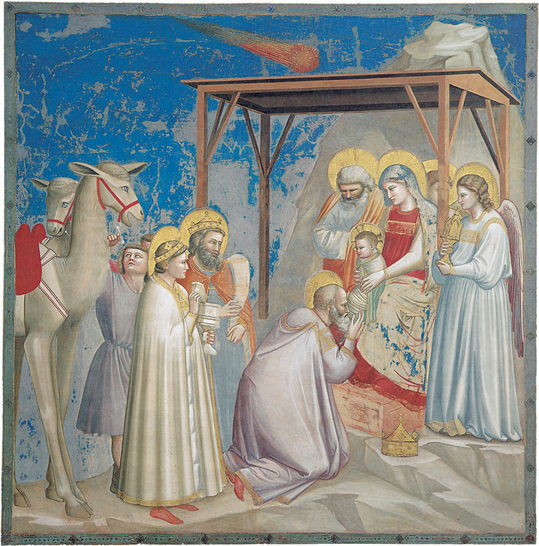 Giotto, Adoration of the Magi, 1305-06. Fresco. Scrovegni Chapel, Padua