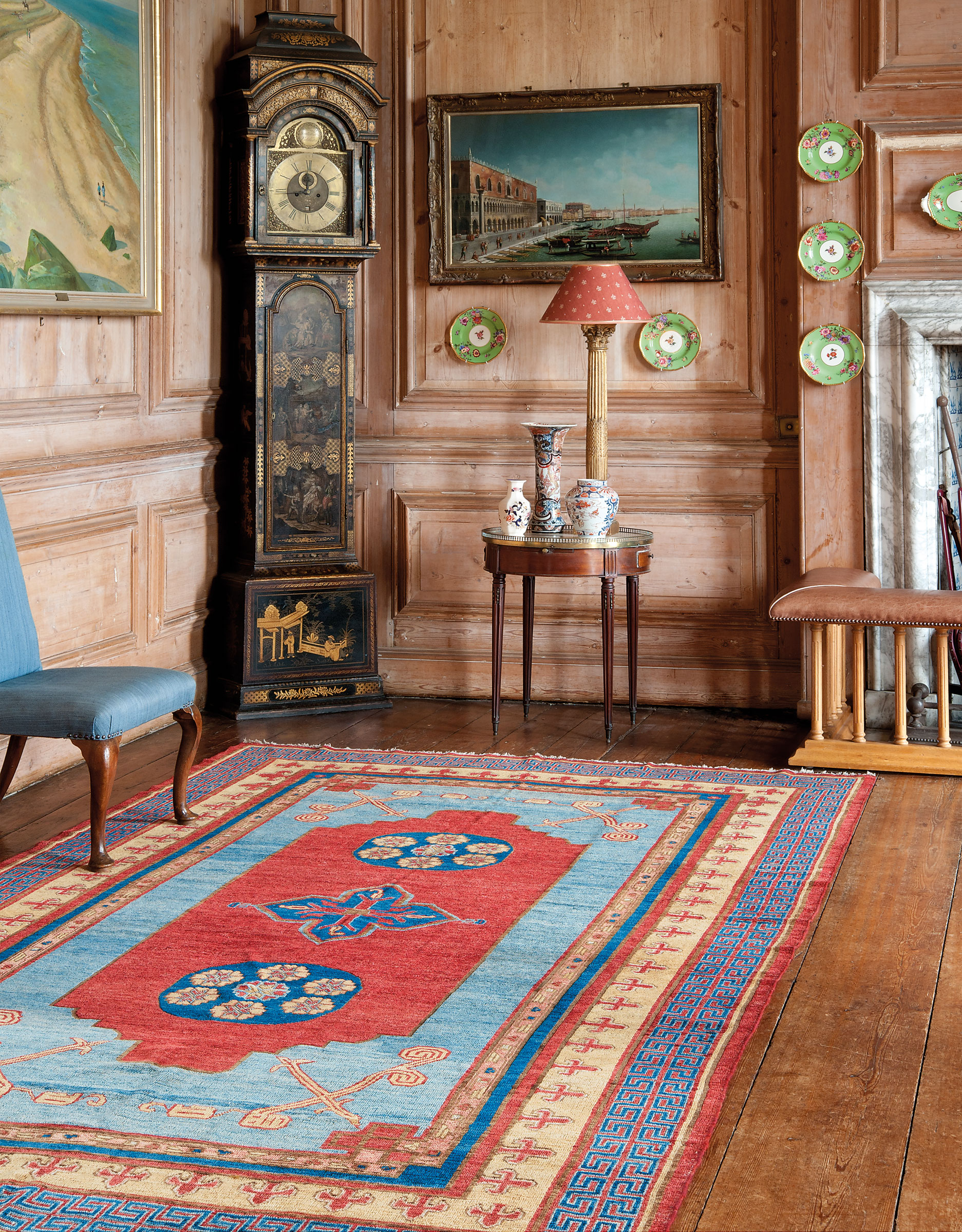 A Khotan carpet. East Turkestan, second half 18th century. 12 ft 11 in