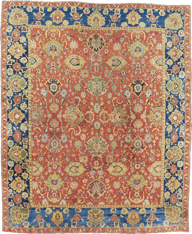 An Agra Carpet North India Mid 19th Century 13 Ft 10 In