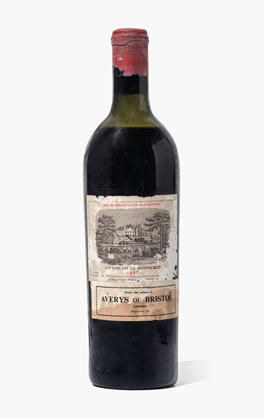 Château Lafite-Rothschild 1897. 1 bottle per lot. Estimate £1,000-1,500. This lot is offered in Fine and Rare Wines from The Avery Family Cellar on 20 October 2016 at Christie's in London, King Street