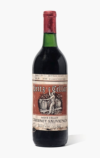 Heitz Cellars, Marthas Vineyard Cabernet Sauvignon 1970. 6 bottles per lot. Estimate £1,200-1,500. This lot is offered in Fine and Rare Wines from The Avery Family Cellar on 20 October 2016 at Christie's in London, King Street