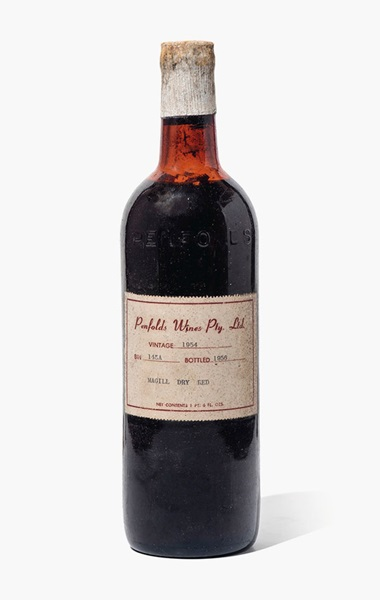 Penfolds, Magill Dry Red Bin 145A 1954. 1 bottle per lot. Estimate £200-300. This lot is offered in Fine and Rare Wines from The Avery Family Cellar on 20 October 2016 at Christie's in London, King Street