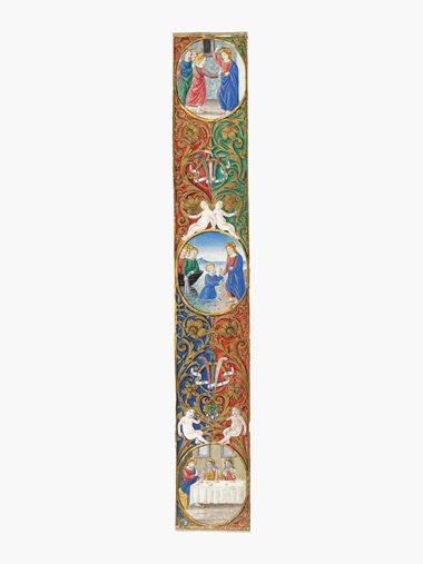 Attavante Degli Attavanti (1452- c. 1525), An illuminated border from a missal of Pope Leo (detail). Estimate $15,000-20,000. This lot is offered in Old Masters on 26 October 2016 at Christie's in New York, Rockefeller Plaza