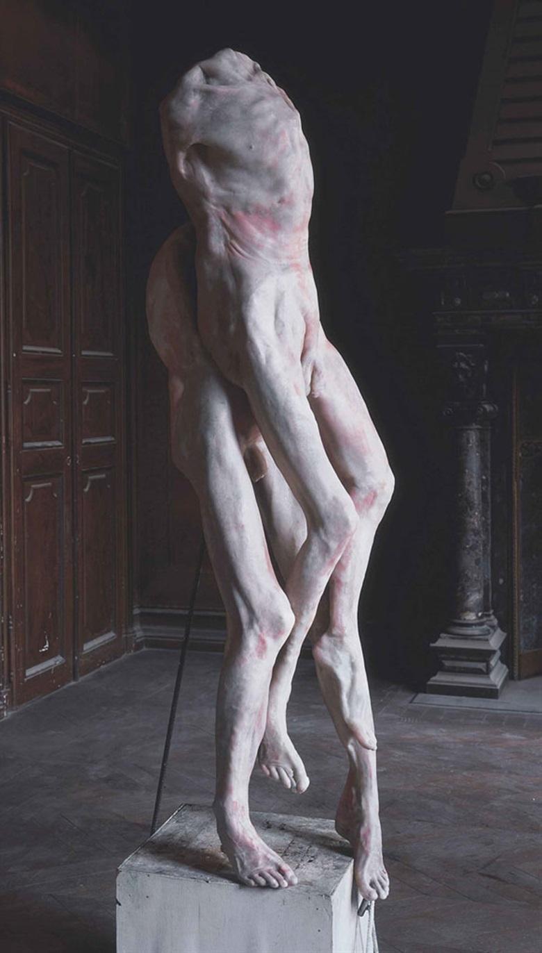 Berlinde de Bruyckere (née en 1964), Pietà, 2008. Cire, époxy, métal et bois peint, 237 x 58 x 54 cm (93¼ x 22⅞ x 21¼ in). Estimate €250,000-350,000. This lot is offered in Collection Claude Berri  on 22 October 2016 at Christie's in Paris