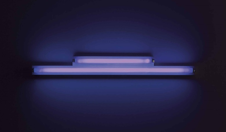 Dan Flavin (1933-1996), Sans Titre, 1964-1972. Lumière ultraviolet, (i) 122 cm (48 in), (ii) 61.5 cm (24¼ in). Estimate €300,000-400,000. This lot is offered in Collection Claude Berri  on 22 October 2016 at Christie's in Paris