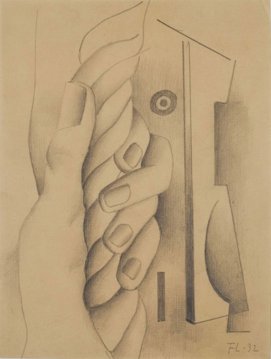 Fernand Léger (1881-1955), Main Tenant un Cordage, 1932. Graphite et estompe sur papier vergé, 32.2 x 23.8 cm (12¾ x 9⅜ in). Estimate €70,000-100,000. This lot is offered in Collection Claude Berri  on 22 October 2016 at Christie's in Paris