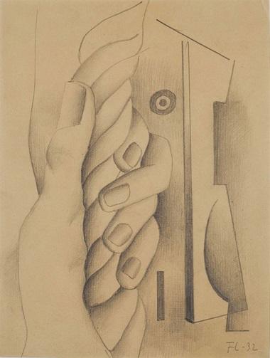 Fernand Léger (1881-1955), Main Tenant un Cordage, 1932. Graphite et estompe sur papier vergé, 32.2 x 23.8 cm (12¾ x 9⅜ in). Estimate €70,000-100,000. This lot is offered in Collection Claude Berri  on 22 October 2016 at Christie's in Paris