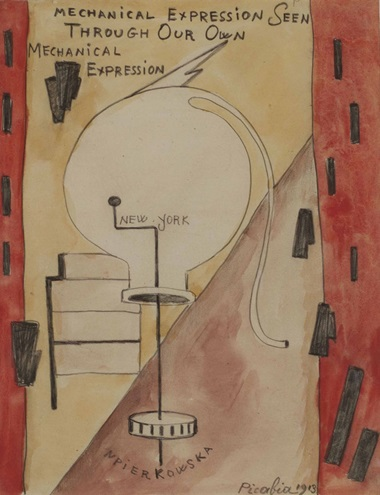 Francis Picabia (1879-1953), Mechanical Expression Seen through Our Own Mechanical Expression, 1913. Aquarelle et graphite sur papier, 20 x 15.9 cm (7⅞ x 6¼ in). Estimate €200,000-300,000. This lot is offered in Collection Claude Berri  on 22 October 2016 at Christie's in Paris