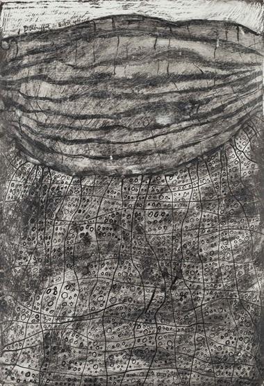 Jean Dubuffet (1901-1985), Plage de Galets Déserte, 1944. Encre de chine et grattage sur carton, 33 x 22.5 cm (13 x 8⅞ in). Estimate €30,000-40,000. This lot is offered in Collection Claude Berri  on 22 October 2016 at Christie's in Paris