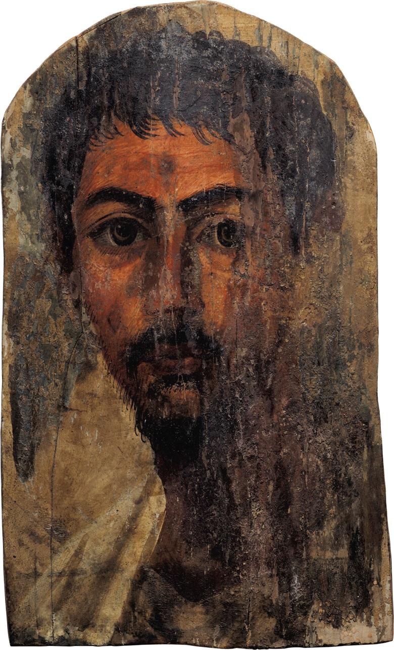 An Egyptian encaustic on wood mummy portrait of a bearded man. Hadrianic period, c.  2nd century AD 12¼ in (31.1 cm) long. Estimate $100,000-150,000. This lot is offered in Antiquities on 25 October 2016 at Christie's in New York, Rockefeller Plaza